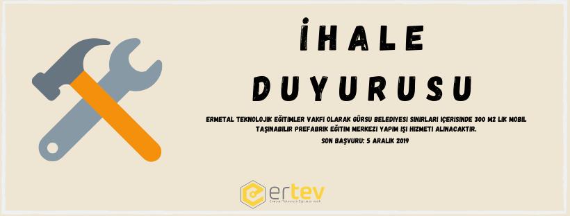 Prefabrik Yapı İhale Duyurusu Hk.